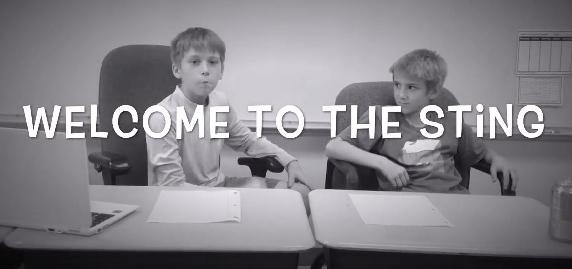 VIDEO: Elementary students producing weekly newscast 'The Sting'
