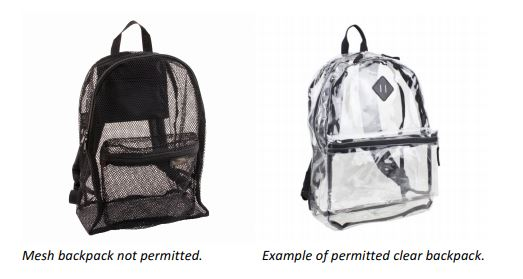 2018-19 Backpack Policy