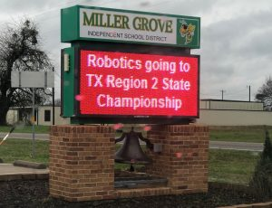 Robotics Going to State Sign