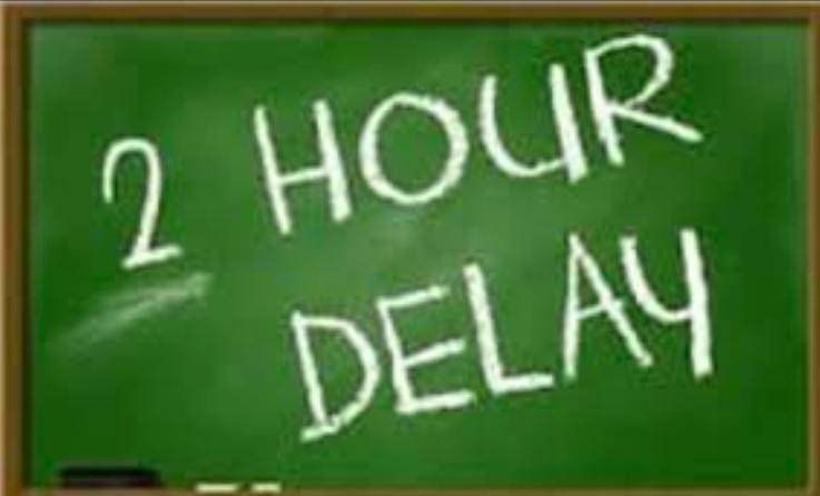 DELAY School Observing 2 Hour Delay Thurs Jan 3 Due To Heavy Rains