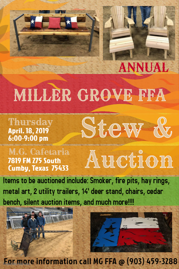 FFA Stew and Auction April 18, 2019