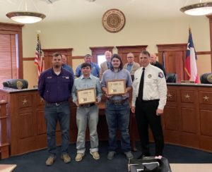 Dyer, Tackel honored
